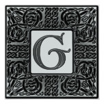Silver Metallic G Monogram Invitation