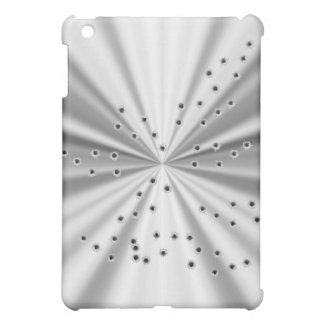 Silver metallic look & bullet holes case for the iPad mini