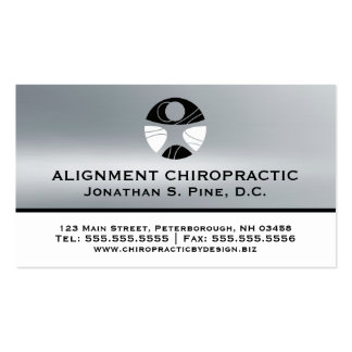 Silver Metallic-Look Chiropractic Appointment Card Business Card