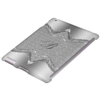 Silver Metallic Look With Diamonds Pattern 2