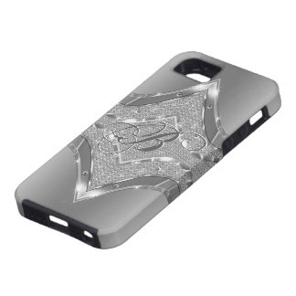 Silver Metallic Look With Diamonds Pattern 3 iPhone 5 Covers