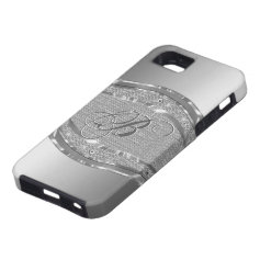 Silver Metallic Look With Diamonds Pattern iPhone 5 Covers