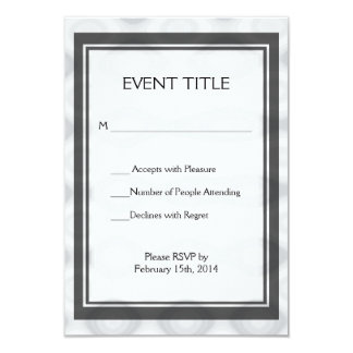 "Silver Metallic Looking Background 3.5"" X 5"" Invitation Card"