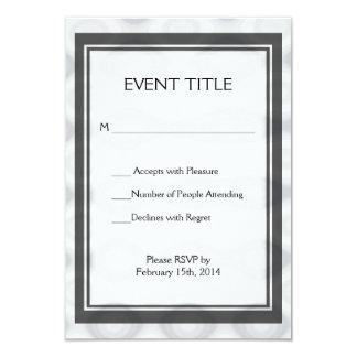 "Silver Metallic Looking Background 3.5"" X 5"" Invitation Card"