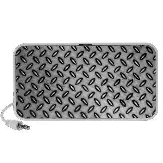 Silver Metallic Patterned Doodle Speaker