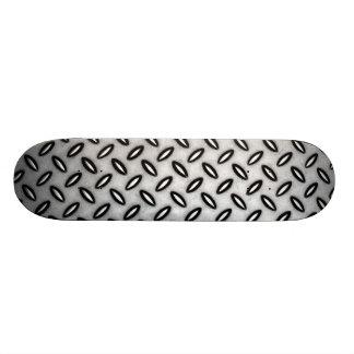 Silver Metallic Patterned Skateboard