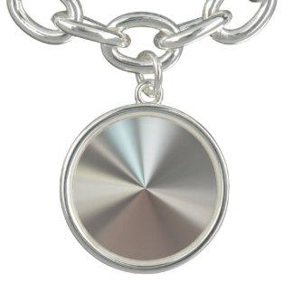 Silver Metallic Charm Bracelets