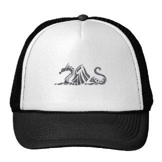 Silver Metallic Sea Dragon Trucker Hat