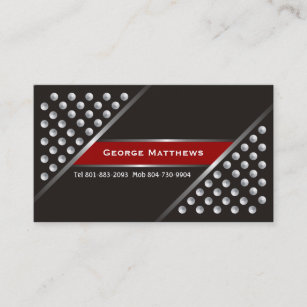 Red black silver business cards zazzle silver metallic studs black red business cards colourmoves