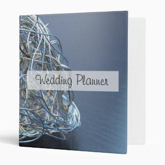 Silver Metallic Wire Heart Binder