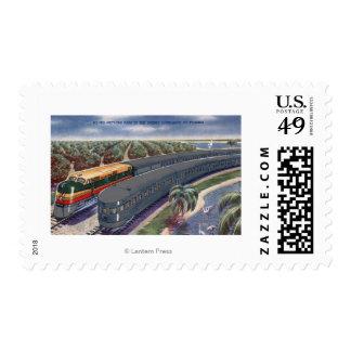 "Silver Meteors ""Seaboard"" in Florida Highlands Postage"
