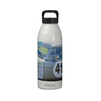 Silver MG racing car Drinking Bottles