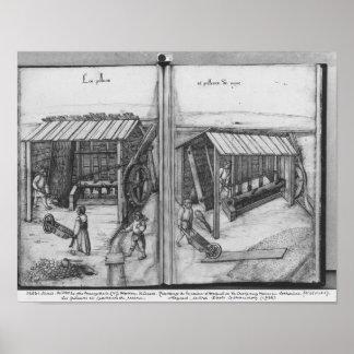 Silver mine of La Croix-aux-Mines, Lorraine Poster