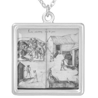 Silver mine of La Croix-aux-Mines, Lorraine Silver Plated Necklace
