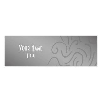 Silver Minimalist Skinny Business Card Template
