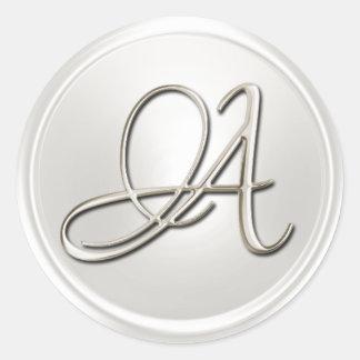 Silver Monogram A Envelope Seal