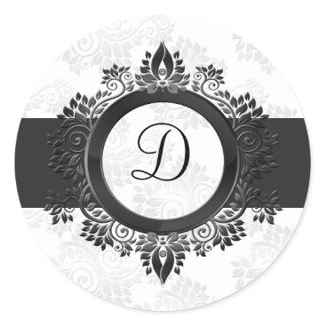 silver monogram envelope seal