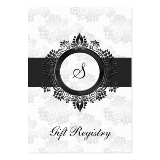 silver monogram  Gift registry  Cards