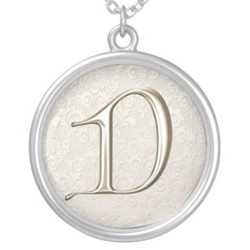 Silver Monogram Necklace - letter D