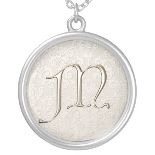 M Letter In Silver Silver Monogram...