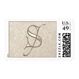 Silver Monogram Stamps - letter S