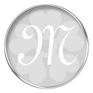Silver Monogram Sticker sticker
