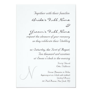 SILVER MONOGRAM WEDDING INVITATION TEMPLATE