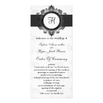 silver monogram Wedding program