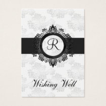 silver monogram wishing well cards