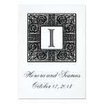 Silver Monogrammed Celtic Wedding Invitation