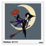 Silver Moon and Her Witch Wall Sticker