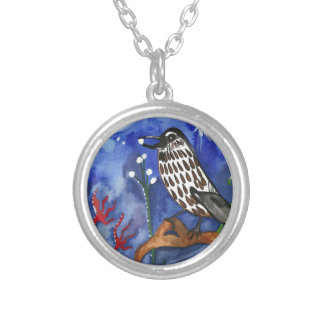 Silver Moon Berries Silver Plated Necklace