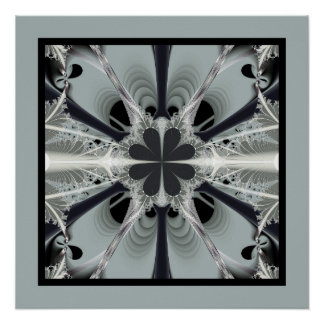silver moonflower poster