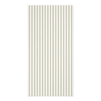Silver Moss And White Cabana Stripe Pattern Card