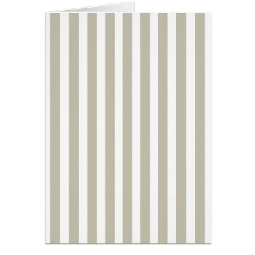 honor_and_obey Silver Moss And White Cabana Stripe Pattern Card