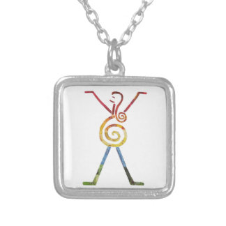 Silver Mother Universe Charm Pendant Necklace