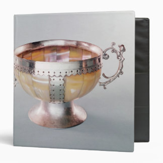 Silver mounted mother-of-pearl wassail bowl binder