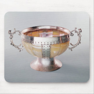 Silver mounted mother-of-pearl wassail bowl mouse pad