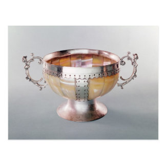 Silver mounted mother-of-pearl wassail bowl postcard