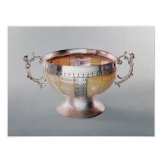 Silver mounted mother-of-pearl wassail bowl poster