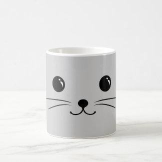 Silver Mouse Cute Animal Face Design Coffee Mug