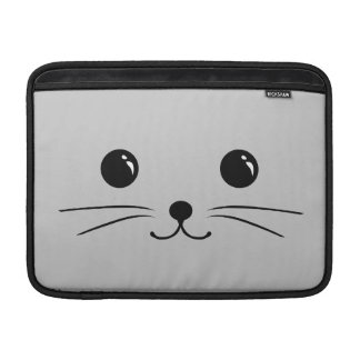 Silver Mouse Cute Animal Face Design Sleeve For MacBook Air