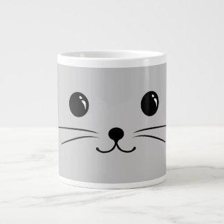 Silver Mouse Cute Animal Face Design Large Coffee Mug