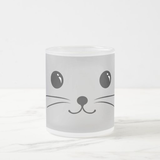 Silver Mouse Cute Animal Face Design Coffee Mugs