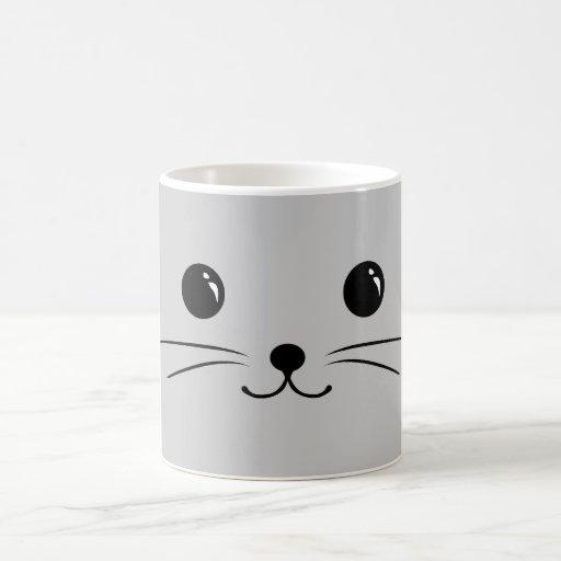 Silver Mouse Cute Animal Face Design Mug