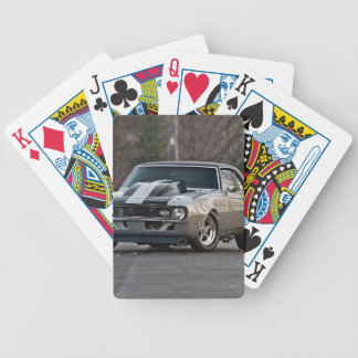 Silver Muscle car Bicycle Playing Cards