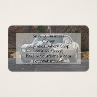 Silver Muscle car Business Card