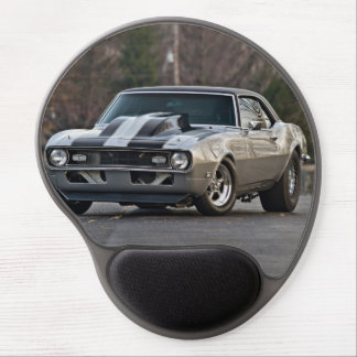 Silver Muscle car Gel Mouse Pad