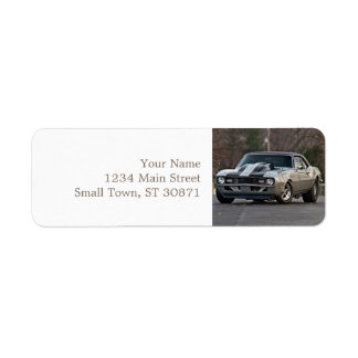 Silver Muscle car Label