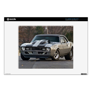 Silver Muscle car Laptop Skins